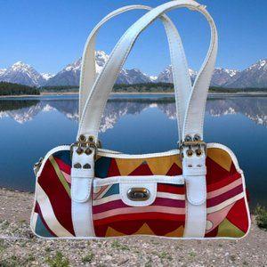 Isabella Fiore Canvas Handbag Top Zipper
